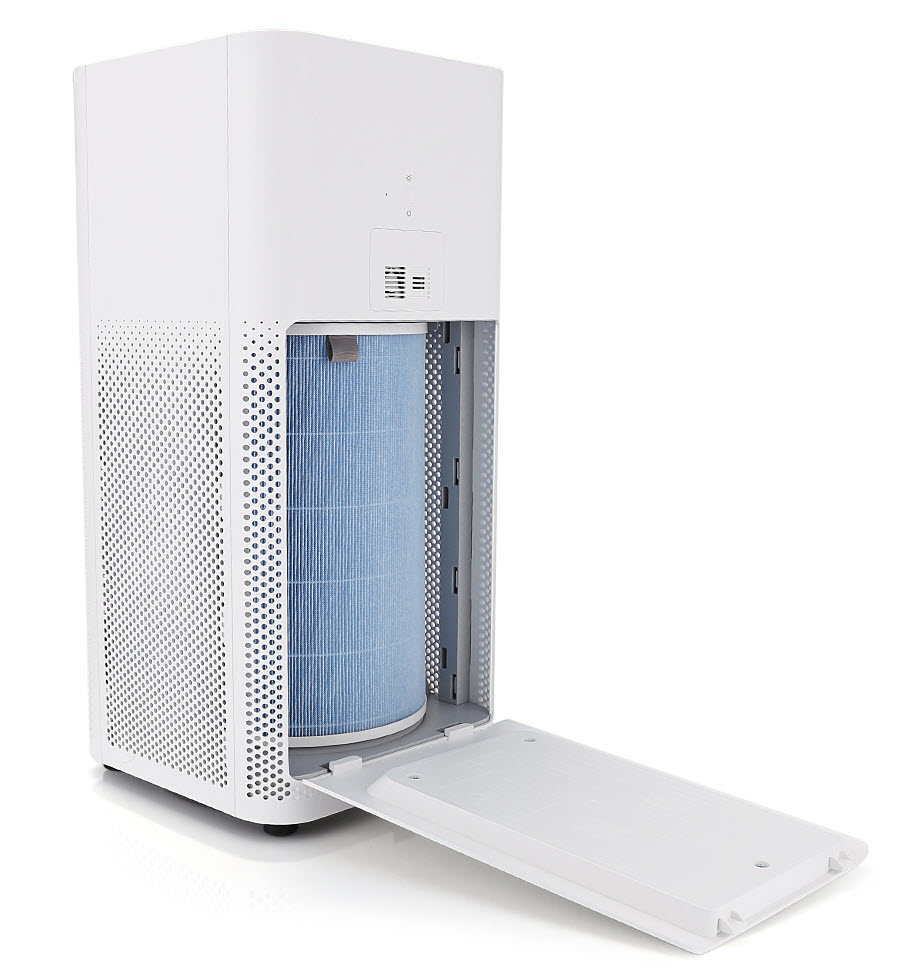 Mi Air Purifier 2S open with filter visible